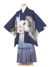 七五三(3男)3014 紺/兜 袴50