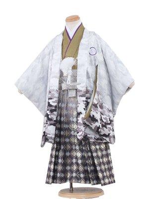 七五三(3歳男袴)3126 白/カモフラージュ