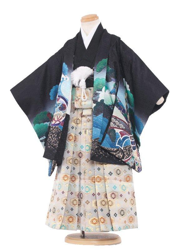 七五三レンタル(3歳男の子袴)3049 黒色/鷹