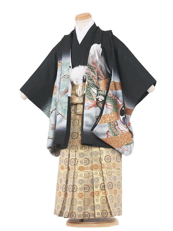 七五三(3男)3025 黒/鷹と龍  袴