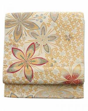 振袖用袋帯0021 白 桜
