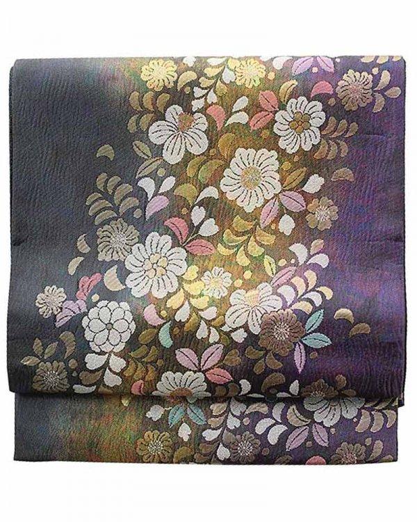 振袖用袋帯0042 紫 辻が花