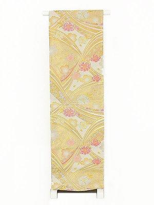 振袖用袋帯0026 白 桜