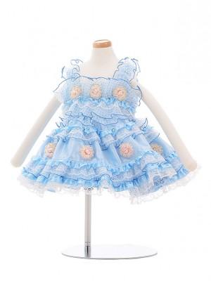 子どもドレス 3024 水色フリル
