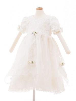 子どもドレス 3027 ホワイトレース 小花