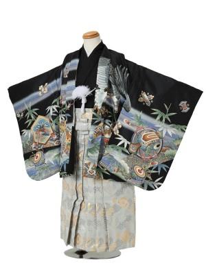 七五三(5男袴)5035 黒 鷹/小槌