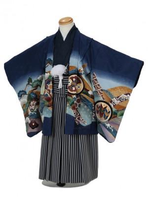 七五三(3男袴)3001 青 兜/松