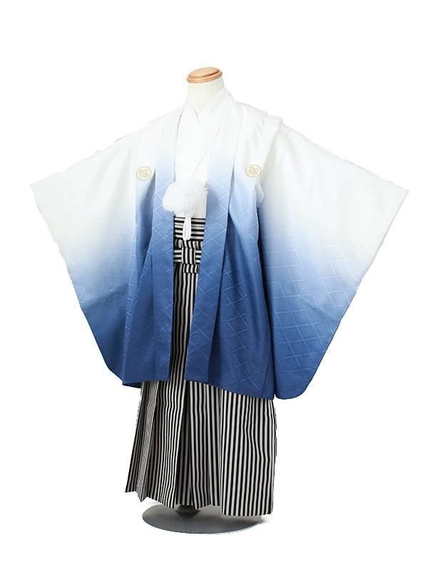 七五三(5男袴)5029 白×紺ぼかし
