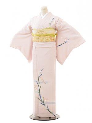 夏訪問着t0506 ピンクパープル忘れな草(正絹(