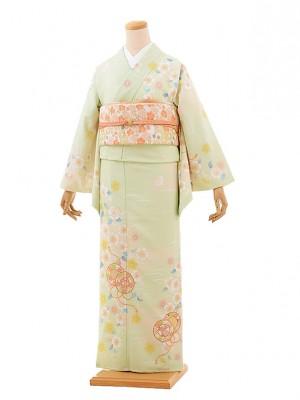 訪問着レンタル tc677 JAPANSTYLE グリーン 桜
