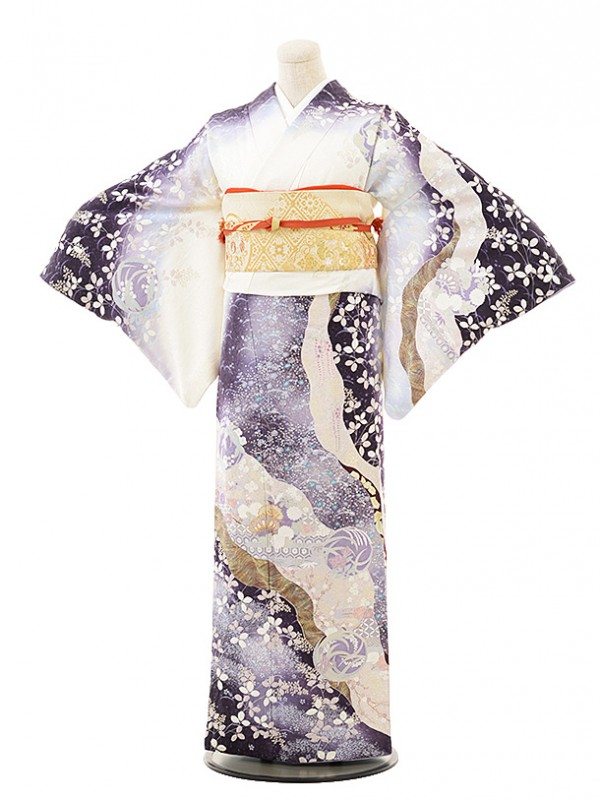 訪問着レンタル496桂由美白×紫花丸