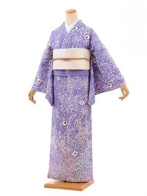 訪問着レンタル t680 ツモリチサト 紫 花
