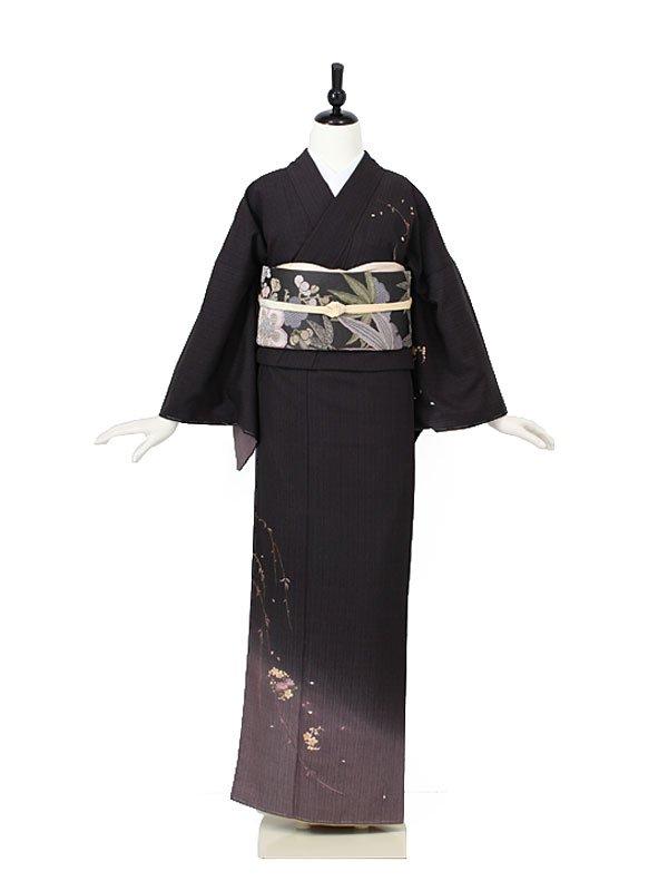 小紋0008 黒 裾ぼかし
