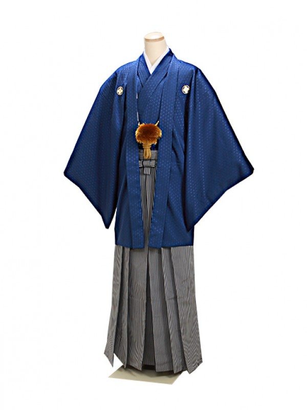 紺 紋付袴 卒業式 成人式 Lサイズ