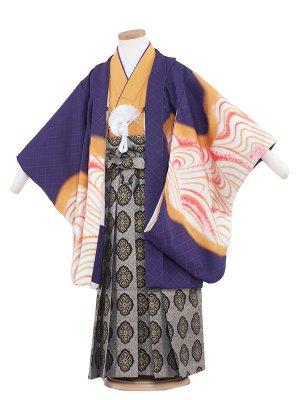 七五三レンタル(5歳男袴)5226 紫地/虎