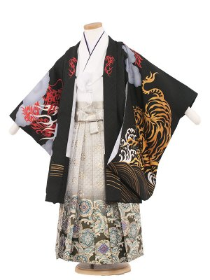 七五三レンタル(5歳男袴) 5079 黒/勇寅と龍