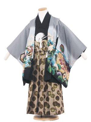七五三レンタル(5歳男袴) 5039 グレー
