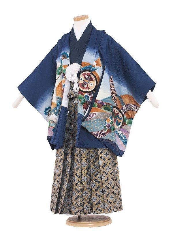 七五三(5男)5026-2 紺/兜と松