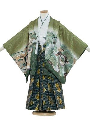 七五三レンタル(5歳男袴) 5036 抹茶/タカのし