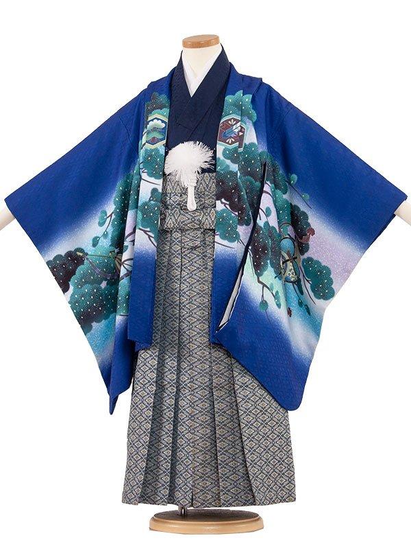 七五三(5男)5076 青色/兜と緑松