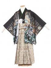 七五三(5男)5078 黒/刺繍兜
