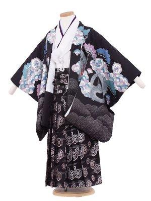七五三レンタル(5歳男袴) 5152 黒色/昇り竜