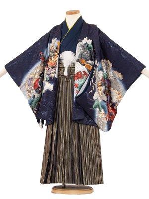 七五三レンタル(5歳男袴)5215 紺地/兜