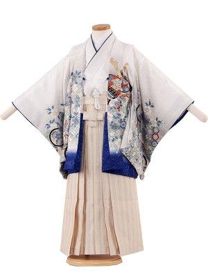 七五三レンタル(5歳男袴)5196 白色×桜鷹