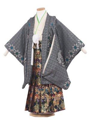 七五三レンタル(5歳男袴) 5154 シルバー/丸龍