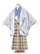 七五三(5男)5150 水色/馬と波 袴60cm