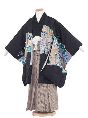 七五三レンタル(5歳男袴) 5118 黒/鷹染分