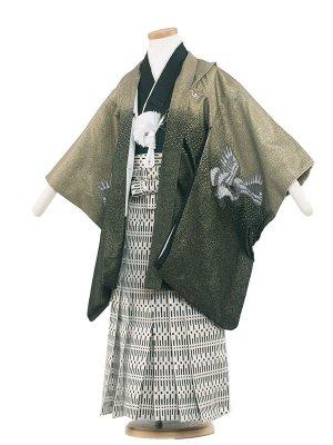 七五三レンタル(5歳男袴) 5022 緑ラメ/ひさかた
