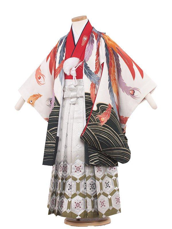 七五三(5男)5043 ホワイト/鳳凰の舞