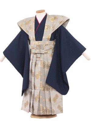 七五三レンタル(5歳男袴) 5001 紺/裃
