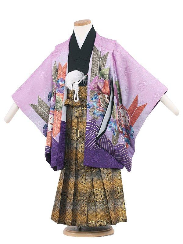 七五三(5男)5066 淡紫色/鷹とぼかし