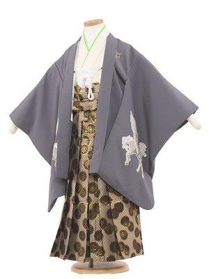 七五三レンタル(5歳男袴) 5008 グレー/ペガサス