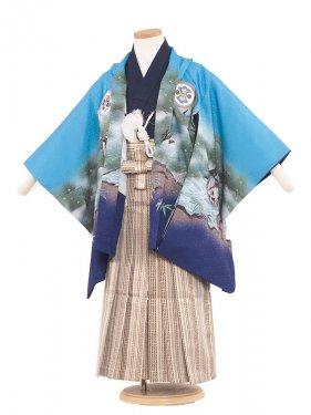 七五三(5男)5046 ライトブルー/刺繍