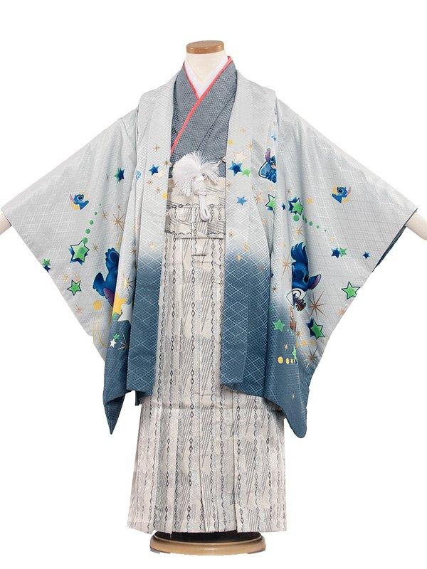 七五三・卒園式袴レンタル(5男)5156 白/ステッチ