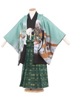 七五三レンタル(5歳男袴) 5082 ミントグリーン/鷹と龍