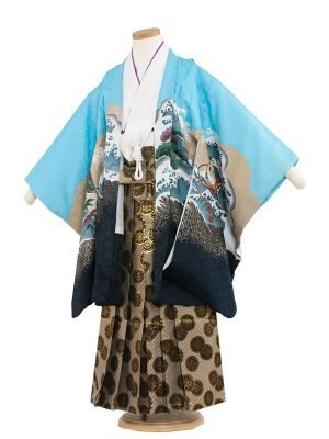 七五三レンタル(5歳男袴) 5133-2 水色/鷹に宝船