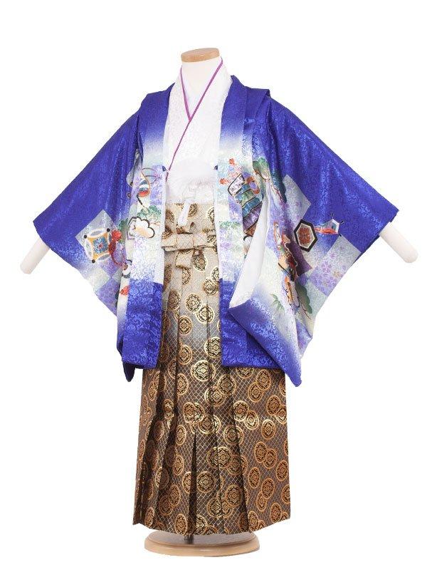 七五三レンタル(5歳男の子袴)5189 群所色×兜