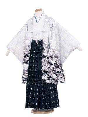 七五三レンタル(5歳男袴)5250 白/カモフラージュ