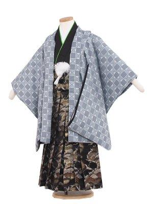七五三レンタル(5歳男袴) 5159 ブルーグレー/格子柄
