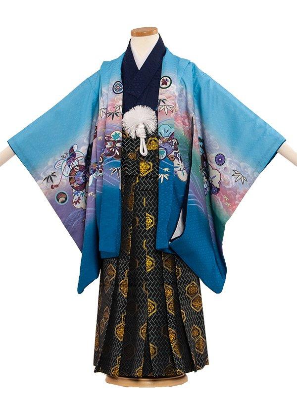 七五三(5男)5054 水色/刺繍頭鷹