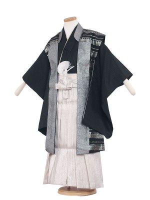 七五三レンタル(5歳男袴) 5029 黒銀/ひさかた陣羽