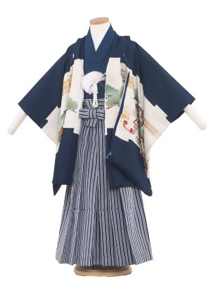 七五三レンタル(5歳男袴) 5099 紺/鷹