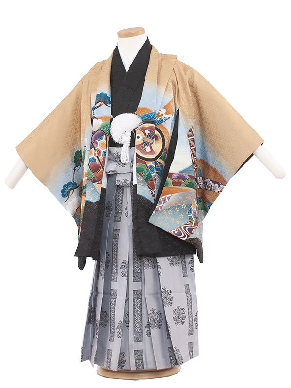 七五三(5男)5105-3 カラシ/兜と松