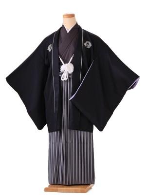 卒業式 男袴 黒 九重 H001