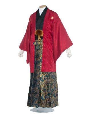男性用袴 紋服5号赤黒/5R40