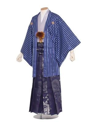 男性用袴 5号青白縦縞/5X07